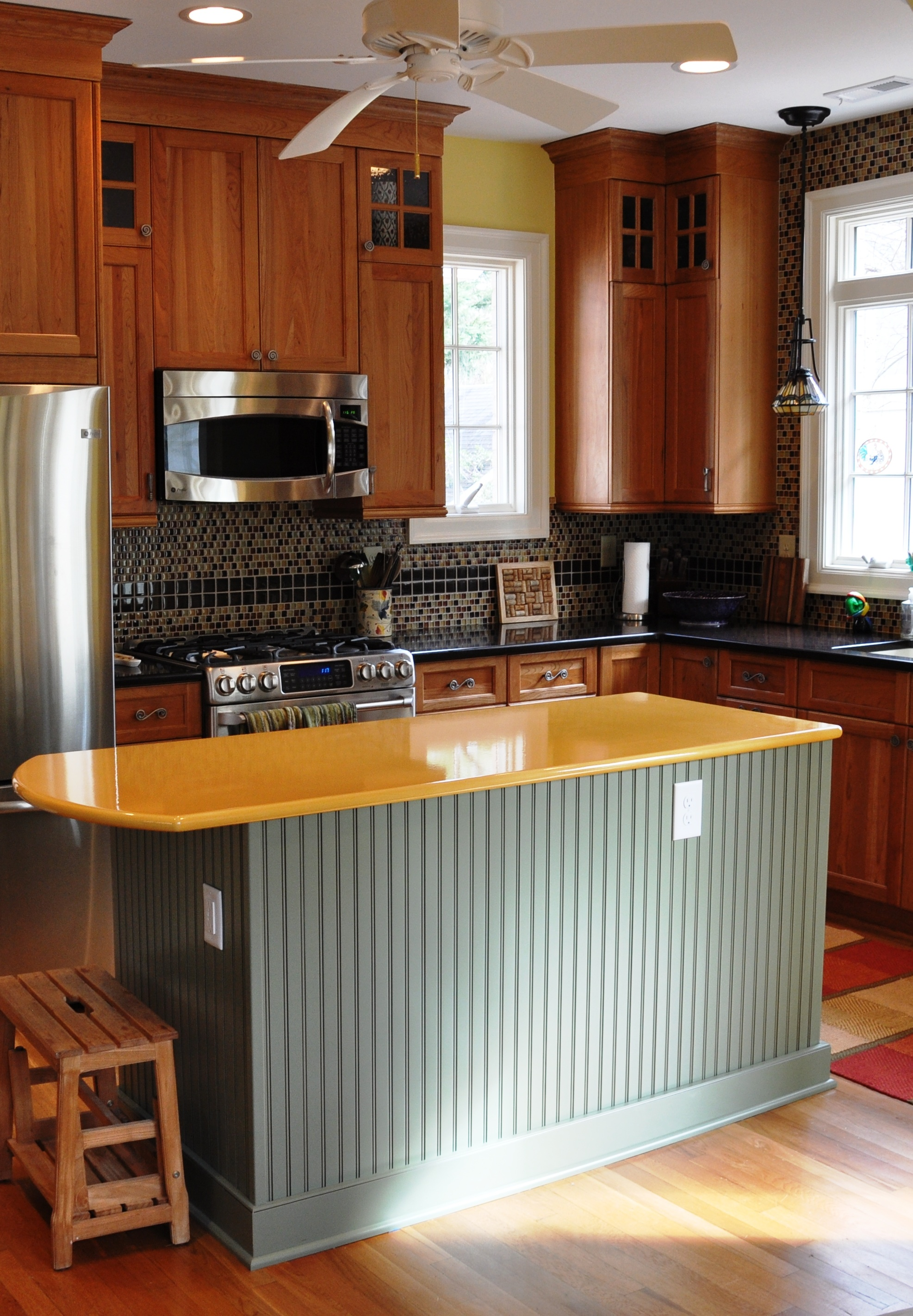 Countertop Microwave Placement : home for the microwave