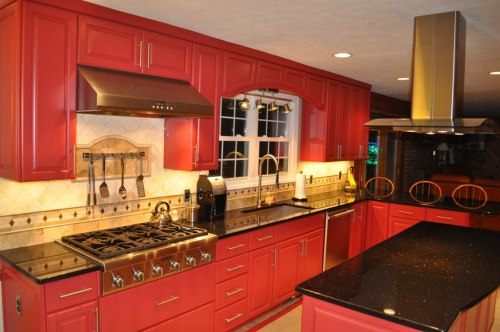 Red Kitchen 1